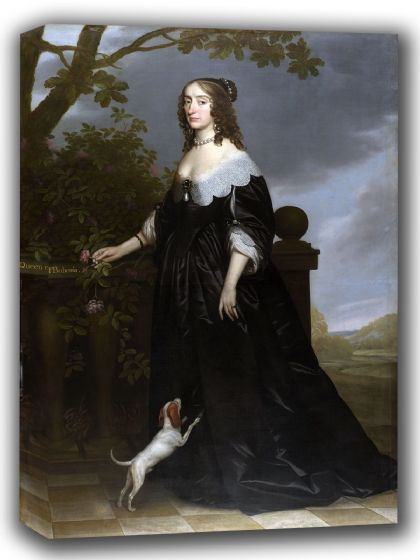 Honthorst, Gerrit van: Elizabeth Stuart, Queen of Bohemia. Fine Art Canvas. Sizes: A4/A3/A2/A1 (002173)